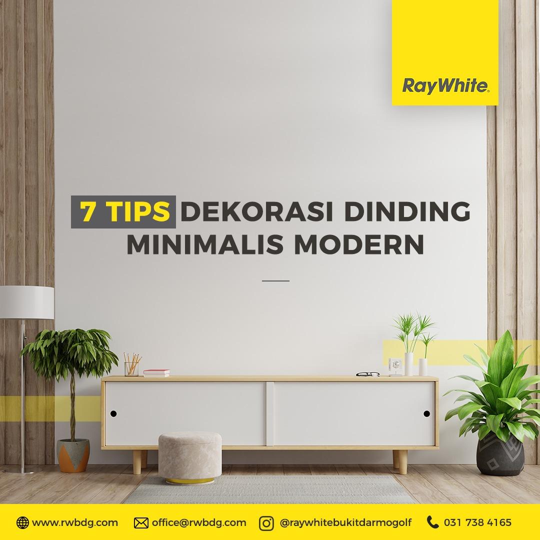 Tips Dekorasi Dinding Ruang Tamu Bertema Minimalis Modern