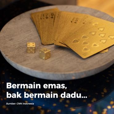 Bermain emas, bak bermain dadu