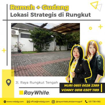 Rumah sekaligus Gudang buat usaha dengan lokasi strategis di Surabaya.