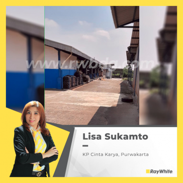 Factory for Sale Ready to Use in Purwakarta, Strategic location, attractive prices