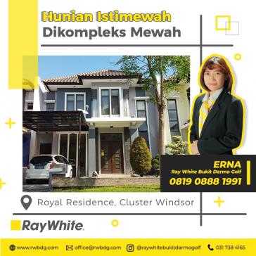 Royal Residence Cluster Windsor Aman dan nyaman dengan gaya modern minimalis dan siap huni.