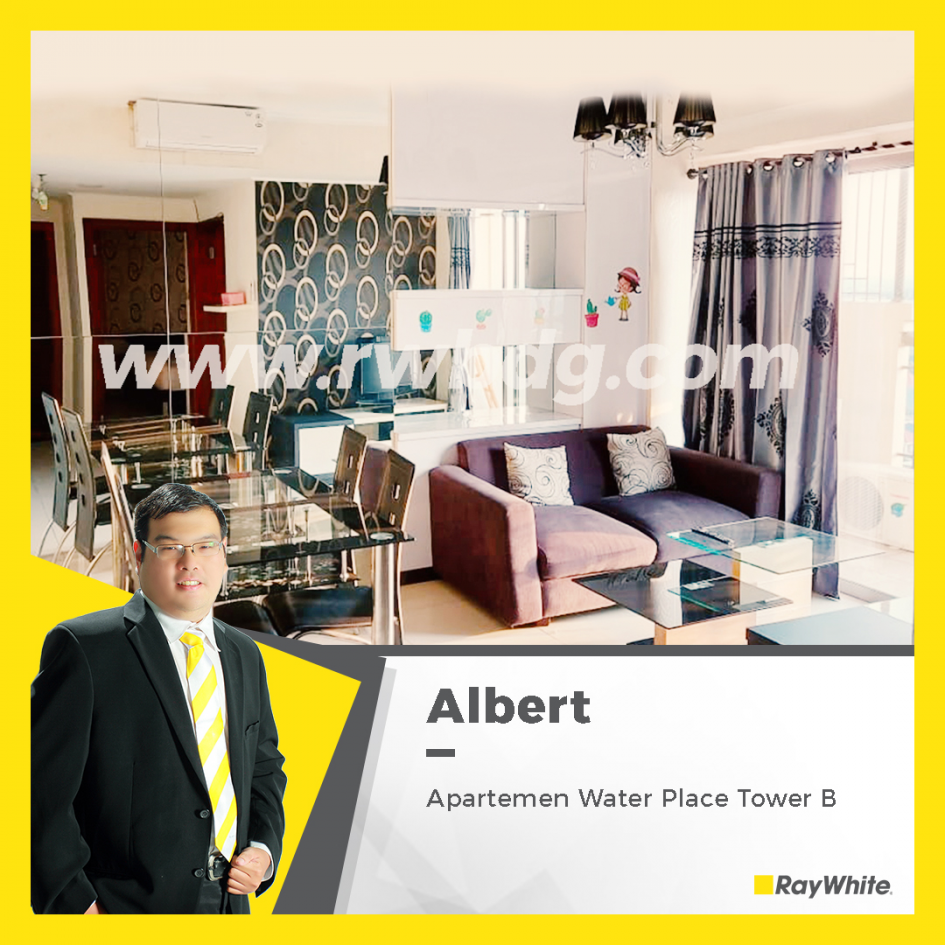 Murah!!, Dijual Apartemen Water PlaceTower B 2BR Full Furnished